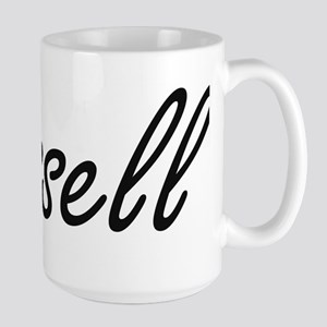 Russell surname artistic design Mugs