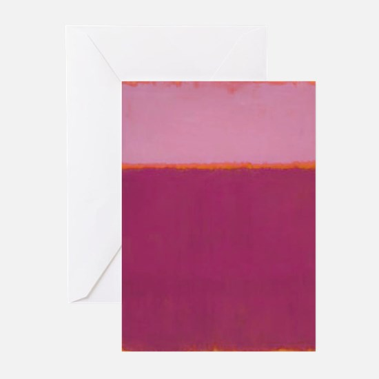 ROTHKO PINK RASBERRY AND ORANGE Greeting Cards
