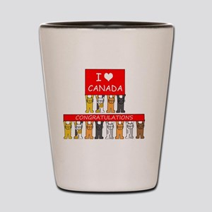I love Canada Congratulations Shot Glass