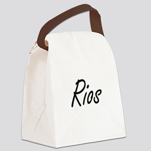 Rios surname artistic design Canvas Lunch Bag