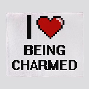 I love Being Charmed Digitial Design Throw Blanket