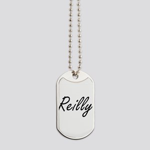 Reilly surname artistic design Dog Tags