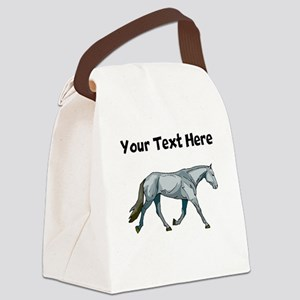 Grey Horse (Custom) Canvas Lunch Bag