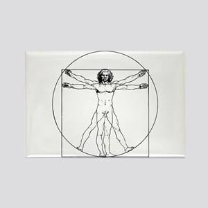 Da Vinci Vitruvian Man Rectangle Magnet