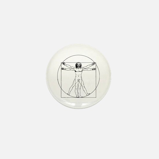 Da Vinci Vitruvian Man Mini Button