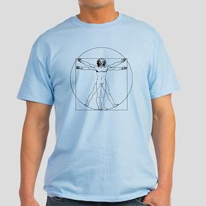 Da Vinci Vitruvian Man Light T-Shirt