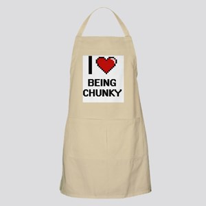 I love Being Chunky Digitial Design Apron