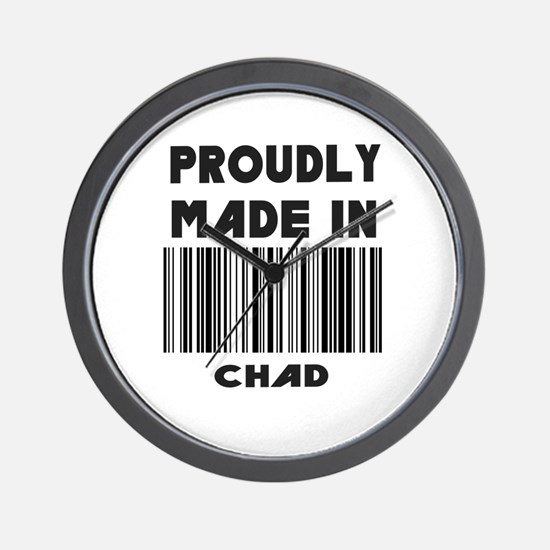 Proudly made in Chad Wall Clock