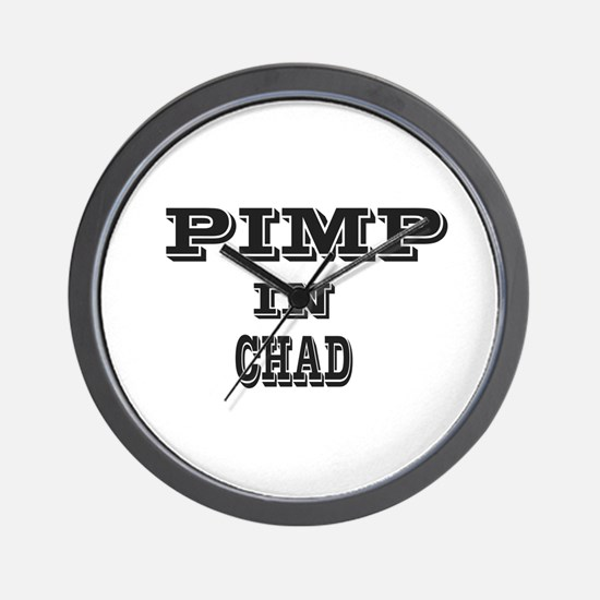 Pimp in Chad Wall Clock
