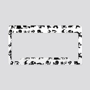 Halloween Monsters Pattern License Plate Holder