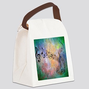 Abstract Music Canvas Lunch Bag
