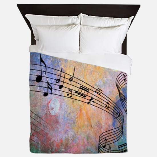 Abstract Music Queen Duvet