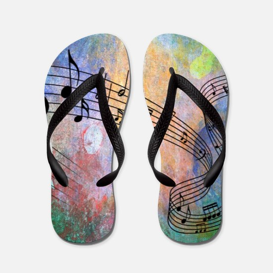 Abstract Music Flip Flops