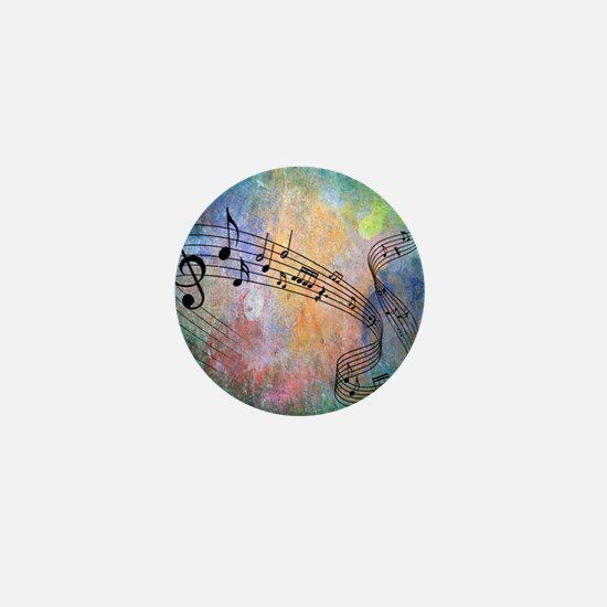 Abstract Music Mini Button