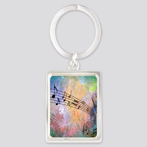 Abstract Music Portrait Keychain