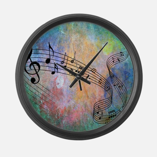 Abstract Music Large Wall Clock