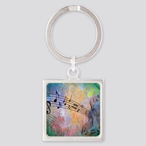 Abstract Music Square Keychain
