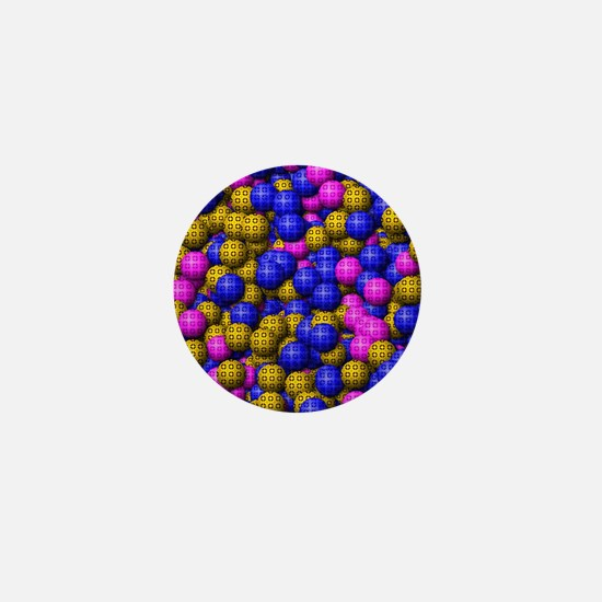 Patterned Balls Mini Button