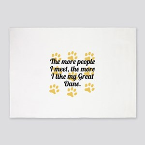 The More I Like My Great Dane 5'x7'Area Rug