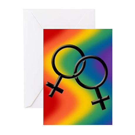 Rainbow Love Gay Pride Greeting Cards (Pk of 20)