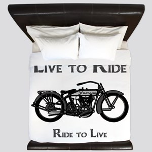 Live To Ride-Ride To Live King Duvet