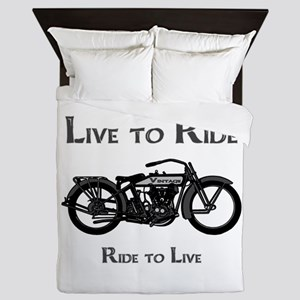 Live To Ride-Ride To Live Queen Duvet