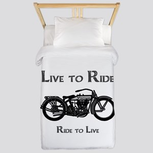 Live To Ride-Ride To Live Twin Duvet