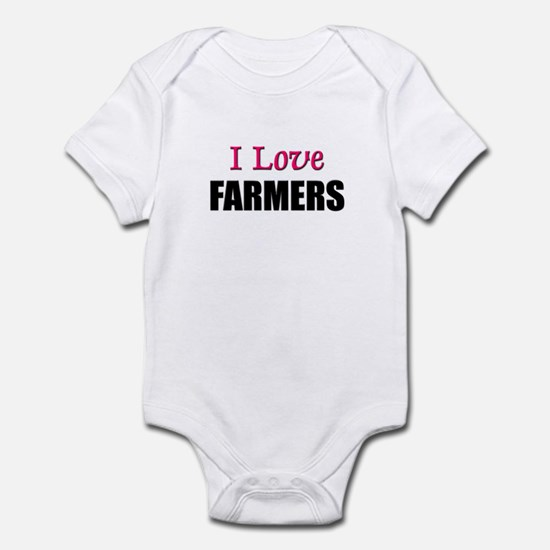 I Love FARMERS Infant Bodysuit