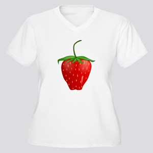 Cute Strawberry Fruit Plus Size T-Shirt