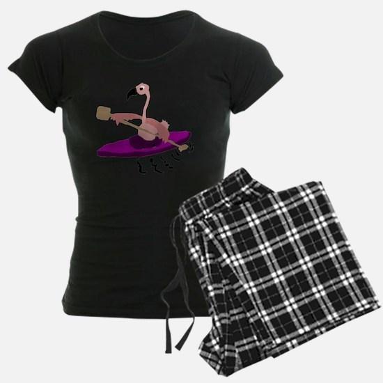 Pink Flamingo Kayaking Pajamas