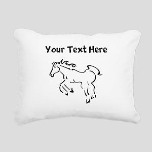 Horse (Custom) Rectangular Canvas Pillow