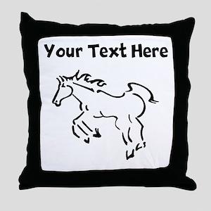 Horse (Custom) Throw Pillow