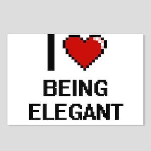 I love Being Elegant Digi Postcards (Package of 8)