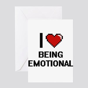 Feeling disturbed greeting cards cafepress i love being emotional digitial des greeting cards m4hsunfo