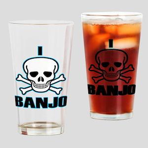 I Hate Banjo Drinking Glass