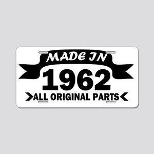 made in 1962 born Aluminum License Plate