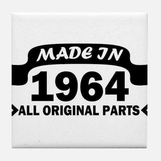 made in 1964 born Tile Coaster
