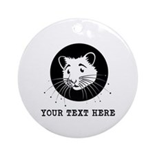 Personalized Hamster Ornament (Round)