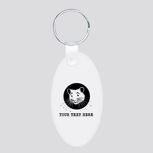 Personalized Hamster Aluminum Oval Keychain