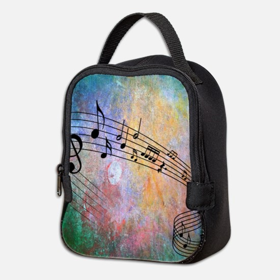 Abstract Music Neoprene Lunch Bag