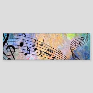 Abstract Music Bumper Sticker