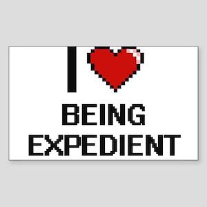 I love Being Expedient Digitial Design Sticker