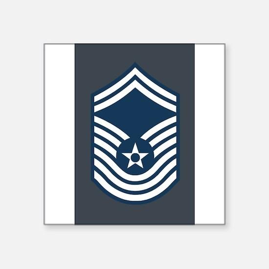 "Unique Air force rank Square Sticker 3"" x 3"""