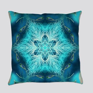 modern teal turquoise pattern Everyday Pillow