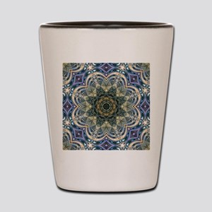 romantic purple abstract pattern Shot Glass