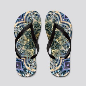 romantic purple abstract pattern Flip Flops
