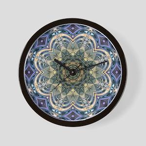 romantic purple abstract pattern Wall Clock