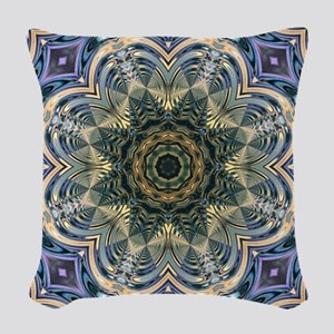 romantic purple abstract patte Woven Throw Pillow