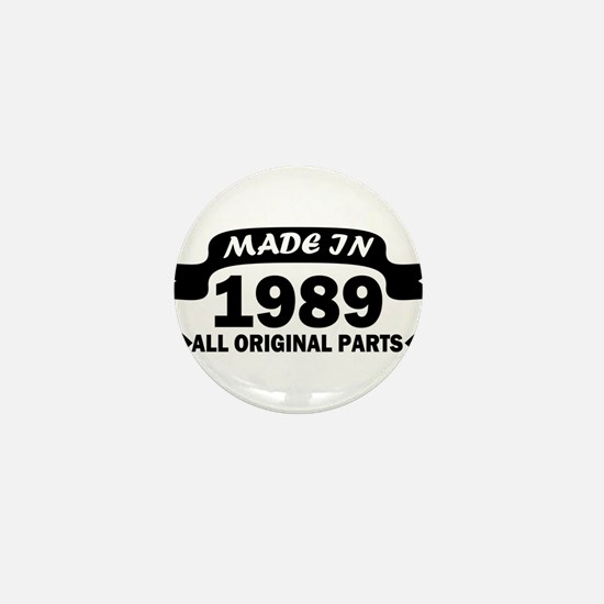 made in 1989 born Mini Button
