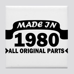 made in 1980 born Tile Coaster